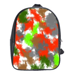 Abstract Watercolor Background Wallpaper Of Splashes  Red Hues School Bags (xl)  by Nexatart