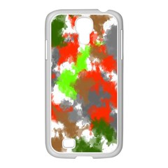 Abstract Watercolor Background Wallpaper Of Splashes  Red Hues Samsung Galaxy S4 I9500/ I9505 Case (white)