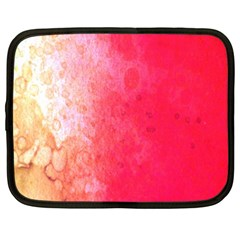 Abstract Red And Gold Ink Blot Gradient Netbook Case (xl)  by Nexatart