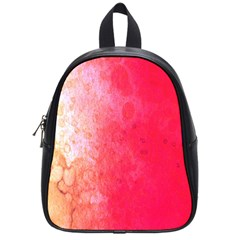 Abstract Red And Gold Ink Blot Gradient School Bags (small)  by Nexatart
