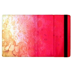 Abstract Red And Gold Ink Blot Gradient Apple Ipad 2 Flip Case by Nexatart