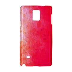 Abstract Red And Gold Ink Blot Gradient Samsung Galaxy Note 4 Hardshell Case by Nexatart