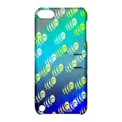 Swarm Of Bees Background Wallpaper Pattern Apple Ipod Touch 5 Hardshell Case With Stand by Nexatart