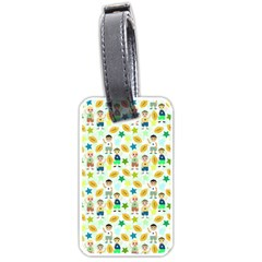 Football Kids Children Pattern Luggage Tags (one Side)  by Nexatart