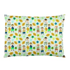 Football Kids Children Pattern Pillow Case (two Sides)