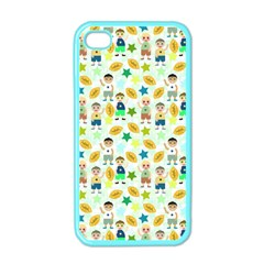 Football Kids Children Pattern Apple Iphone 4 Case (color) by Nexatart