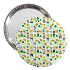 Football Kids Children Pattern 3  Handbag Mirrors by Nexatart