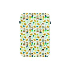 Football Kids Children Pattern Apple Ipad Mini Protective Soft Cases by Nexatart