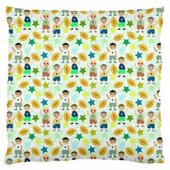 Football Kids Children Pattern Standard Flano Cushion Case (two Sides) by Nexatart