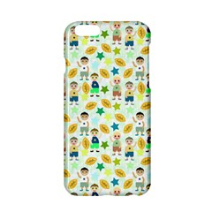Football Kids Children Pattern Apple Iphone 6/6s Hardshell Case by Nexatart