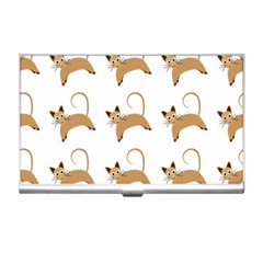 Cute Cats Seamless Wallpaper Background Pattern Business Card Holders by Nexatart