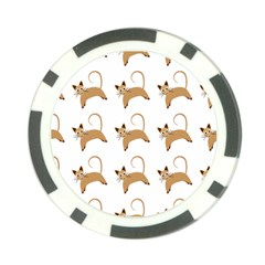 Cute Cats Seamless Wallpaper Background Pattern Poker Chip Card Guard (10 Pack)