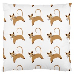 Cute Cats Seamless Wallpaper Background Pattern Large Cushion Case (one Side) by Nexatart
