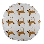Cute Cats Seamless Wallpaper Background Pattern Large 18  Premium Round Cushions Back