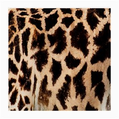 Yellow And Brown Spots On Giraffe Skin Texture Medium Glasses Cloth (2 Side) by Nexatart