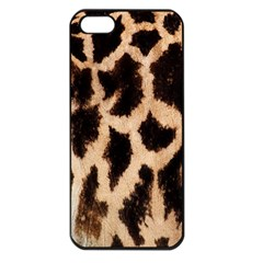 Yellow And Brown Spots On Giraffe Skin Texture Apple Iphone 5 Seamless Case (black) by Nexatart