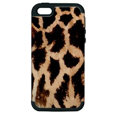 Yellow And Brown Spots On Giraffe Skin Texture Apple Iphone 5 Hardshell Case (pc+silicone) by Nexatart