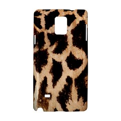 Yellow And Brown Spots On Giraffe Skin Texture Samsung Galaxy Note 4 Hardshell Case by Nexatart