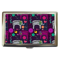 Love Colorful Elephants Background Cigarette Money Cases by Nexatart