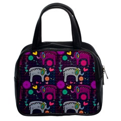 Love Colorful Elephants Background Classic Handbags (2 Sides)