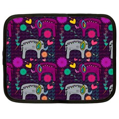 Love Colorful Elephants Background Netbook Case (xxl)  by Nexatart