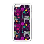 Love Colorful Elephants Background Apple iPhone 6/6S White Enamel Case Front