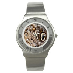 Butterfly Wing Detail Stainless Steel Watch
