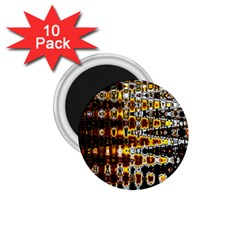 Bright Yellow And Black Abstract 1 75  Magnets (10 Pack)