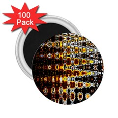 Bright Yellow And Black Abstract 2 25  Magnets (100 Pack)  by Nexatart