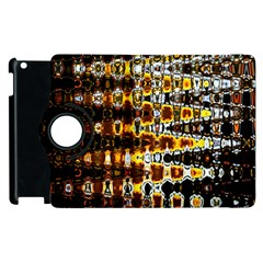 Bright Yellow And Black Abstract Apple Ipad 3/4 Flip 360 Case by Nexatart