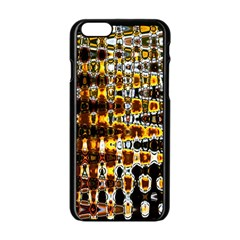Bright Yellow And Black Abstract Apple Iphone 6/6s Black Enamel Case by Nexatart