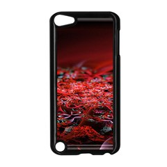 Red Fractal Valley In 3d Glass Frame Apple Ipod Touch 5 Case (black) by Nexatart