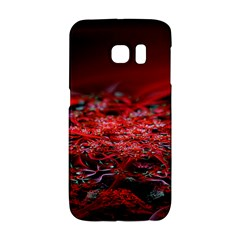 Red Fractal Valley In 3d Glass Frame Galaxy S6 Edge by Nexatart