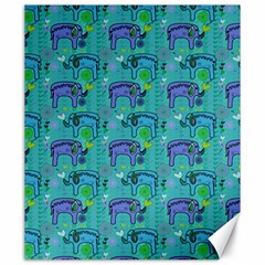 Elephants Animals Pattern Canvas 20  X 24   by Nexatart