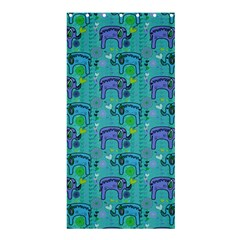 Elephants Animals Pattern Shower Curtain 36  X 72  (stall)
