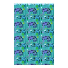 Elephants Animals Pattern Shower Curtain 48  X 72  (small)  by Nexatart