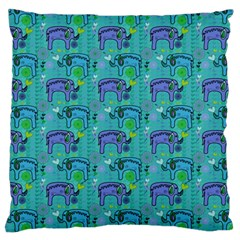 Elephants Animals Pattern Standard Flano Cushion Case (two Sides) by Nexatart
