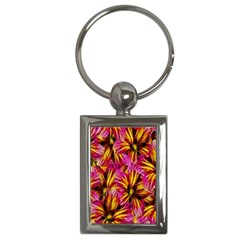 Floral Pattern Background Seamless Key Chains (rectangle)  by Nexatart