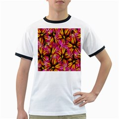 Floral Pattern Background Seamless Ringer T-shirts by Nexatart