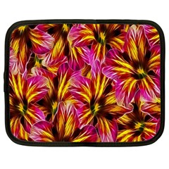 Floral Pattern Background Seamless Netbook Case (large) by Nexatart