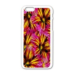 Floral Pattern Background Seamless Apple Iphone 6/6s White Enamel Case