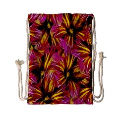 Floral Pattern Background Seamless Drawstring Bag (small) by Nexatart