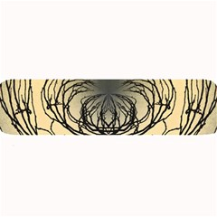 Atmospheric Black Branches Abstract Large Bar Mats by Nexatart