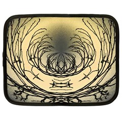 Atmospheric Black Branches Abstract Netbook Case (large) by Nexatart