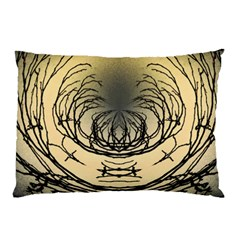 Atmospheric Black Branches Abstract Pillow Case