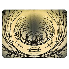 Atmospheric Black Branches Abstract Samsung Galaxy Tab 7  P1000 Flip Case