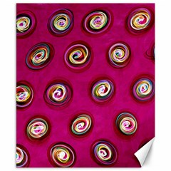 Digitally Painted Abstract Polka Dot Swirls On A Pink Background Canvas 8  X 10  by Nexatart