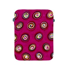Digitally Painted Abstract Polka Dot Swirls On A Pink Background Apple Ipad 2/3/4 Protective Soft Cases