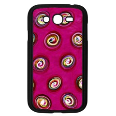 Digitally Painted Abstract Polka Dot Swirls On A Pink Background Samsung Galaxy Grand Duos I9082 Case (black)