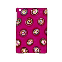 Digitally Painted Abstract Polka Dot Swirls On A Pink Background Ipad Mini 2 Hardshell Cases by Nexatart